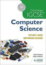 Cambridge IGCSE Computer Science Study and Revision Guide by Helen Williams, Paul Hoang, David Watson, Dave Watson (Paperback, 2016)