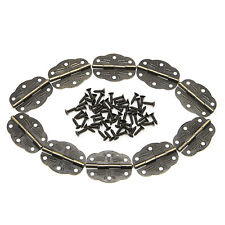 10Pcs Door Butt Hinges Alloy Rotated From 0-280° Antique Bronze 30mm x22mm