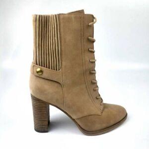 Michael Kors Women's Tan Brown Suede Ankle Boots Booties SG16H Sz 7.5 EU 38