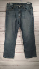 Oleg Cassini American Dungarees Relaxed Straight Dark Wash Men's Jeans 36X33