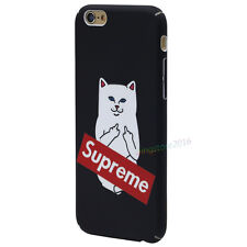 Hot Supreme Funny Slim Mid-Finger Cat Kitty Hard Case For iPhone 7 Plus 5.5 inch
