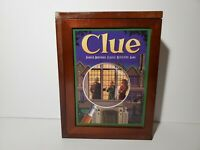 Clue Vintage Game Collection Wood Wooden Box Bookshelf Edition
