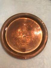 """Two WWll Copper Souvenir 10""""Plates"""