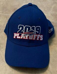 Buffalo Bills 2019 Playoffs Blue w/ Red New Era 39Thirty Hat Cap Fitted M/L