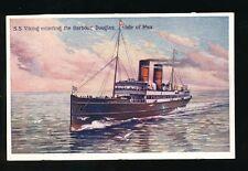 Shipping IOM RMS VIKING entering Douglas Harbour Steamer c1900/10s? PPC
