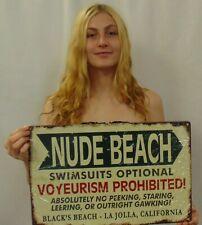 La Jolla Nude Beach Vintage Sign