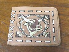Child's Kid's Toy Plastic Vinyl Wallet Billfold Cowboy Bull Western Vintage