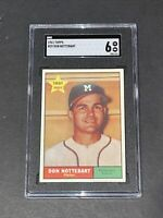 1961 Topps #29 Don Nottebart SGC 6 Newly Graded & Labelled