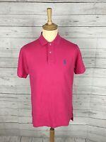 Mens Ralph Lauren Polo Shirt - Small - Dark Pink - Great Condition