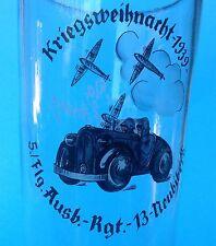 5v5: 1/2 L avrei birra vetro flg. ADAPT. RGT. 13 Neubiberg guerra NATALIZIA notte flg. zoepf ~ 39