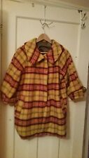 Vintage pea coat yellow and red check. Size 12plus free Topshop denim mini skirt