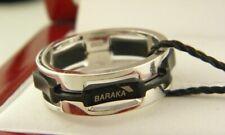 Baraka Men's Ring 18k White Gold and Black Ceramic Size 8.5