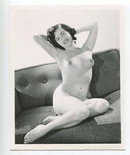 Girl Next Door Round Perfect Breasts Bust 1950 Original Nude Photo  B5941