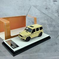 NEW MOTORHELIX 1:64 Mercedes-Benz G63 AMG 2019 Yellow Resin Car Model Collection