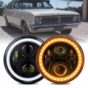 """New Pair 7"""" LED Headlights Hi/Lo Sealed Beam For Holden Premier Kingswood Monaro"""