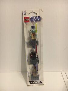LEGO Star Wars Magnet Set - Yoda, Count Dooku, Mace Windu - NEU NEW