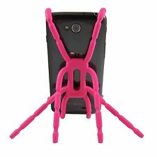 Mobile Phone For Car Vent Desk Holder Cell Flexible Bend Mount Stand Breffo Pink