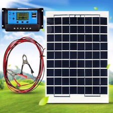 10W 12V Cell Solar Panel Module Battery Charger With 30A LCD Solar Controller