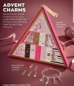 AVON ~ 12 Days Of Christmas Bracelet & Charms Gift Set ~ Brand New in Box