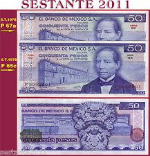 MEXICO MESSICO - 50 PESOS 5.7. 1978  Scarce, Rara  - Serie EX -  P 65c - FDS/UNC