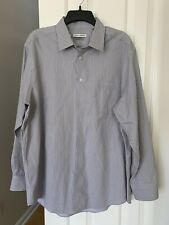 Joseph Abboud Slim Fit Dress Shirt 17.5 34/35 Size Long Sleeve Striped Gray