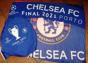Chelsea Champions League Final Goodie Bag: Gymsack & Scarf. Porto 2021