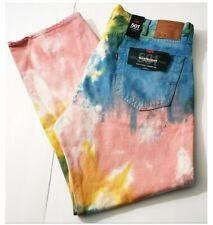 Levi's 501 '93 Premium Straight Leg Tie Dye Haight Surfer Denim Jeans 40x30 $98