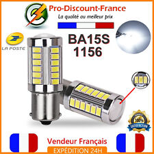 1 Ampoule 33 LED BA15S 1156 P21W BLANC XENON VOITURE Feux Recul / Jour SMD