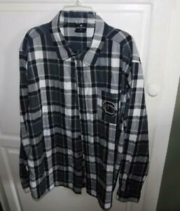 South Carolina Gamecocks Colosseum Black White Plaid Long Sleeve Shirt Size XL