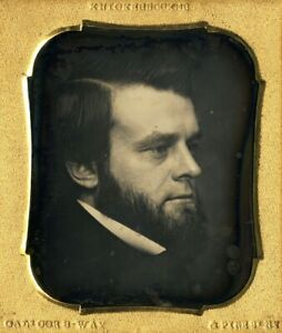 Rare Close-Up Profile of a Sophisticated Man by Knickerbockers of New York
