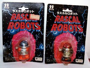 Vintage 1977 Tomy Japan Rascal Robots Wind Up Set Japan Exclusive