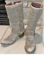 "Durango Leather Boots Philly Harness 13"" Tall Western PreWorn Gray/Mushroom 10 M"