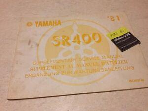 Yamaha SR400 4G4 Sr 400 1981 400SR Suplemento Manual Taller Manual de Taller