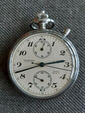 Vintage military chronograph pocket watch Dodane valjoux gousset militaire navy