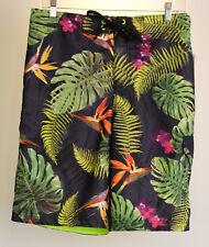 Speedo Swim / Board Shorts Medium M Tropical Ferns Design Mesh Lining NWTS