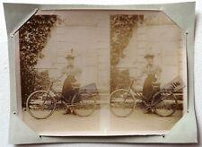 PHOTO 1897 famille GARIN PELTIER LA POSSONNIERE dame à vélo jupe culotte F192