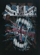 THE ASKING ALEXANDRIA HOT ROCK BAND SCREENED IN BLACK MEN'S T-SHIRT (SIZE L)