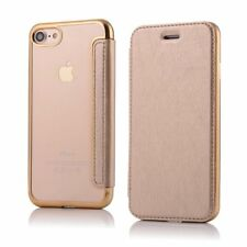 For iPhone Flip Card Slot Wallet Leather Case Clear Silicone Gel Full Body Cover