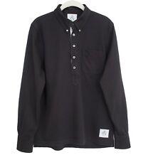 BROOKS BROTHERS THOM BROWNE BLACK FLEECE Polo Long Sleeve Black Size BB2 US M