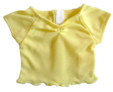 """For 18"""" American Girl Doll Clothes Easter Yellow Cinched T-Shirt Ruffle Hem"""