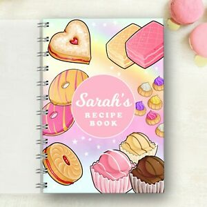 Personalised Recipe notebook Sweet Treats, Foodie Journal, Lovely Present, Gift