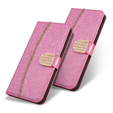 For Samsung Galaxy Wallet Cover Glitter Diamond Leather Flip Women's Pouch Cover