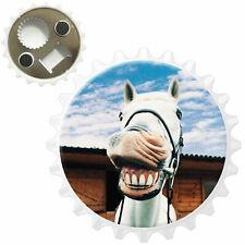 Laughing White Horse Bottle Opener Fridge Magnet