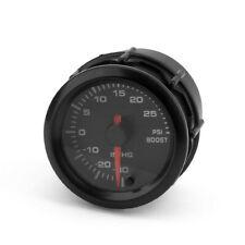 2'' 52mm 7 Color LED Pointer Turbo Boost Gauge Stepper Motor 12V Psi Meter Black