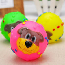 Squeaky Squeaker Dog Puppy Quack Sound Chew Treat Holder Funny Ball Pet Toy、New