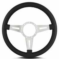 "Lecarra 43201 Steering Wheel Black Leather Grip 3-Spoke 14""Diameter 9-Bolt Mount"