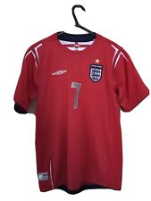 England Football Shirt Beckham Boys Large