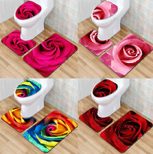 Three-piece Bath Mats,bathroom Rugs Toilet Mat Set, Bath Mat.A Variety of Styles