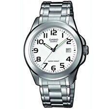 Casio Uhr MTP-1259PD-7B Herren Armbanduhr Edelstahl Silber Weiß Watch NEU & OVP