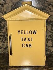 "old Telephone Call Box ""Yellow Taxi Cab"" Company Phone Gamewell Box police fire"